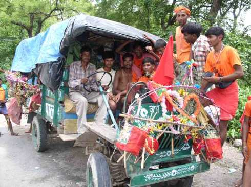 "An Indian ""jugaad"" - improvised vehicle"